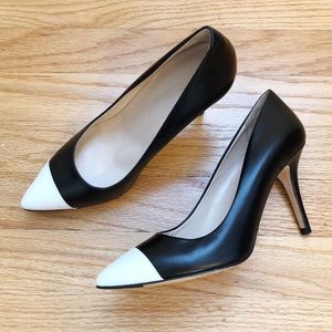 CLUB MONACO April Cap Toe Leather Pump